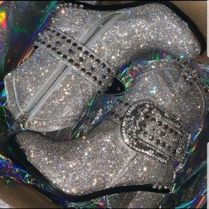 SOLD!! NWT Dolls Kill Icy Sheriff Bling Tour boots